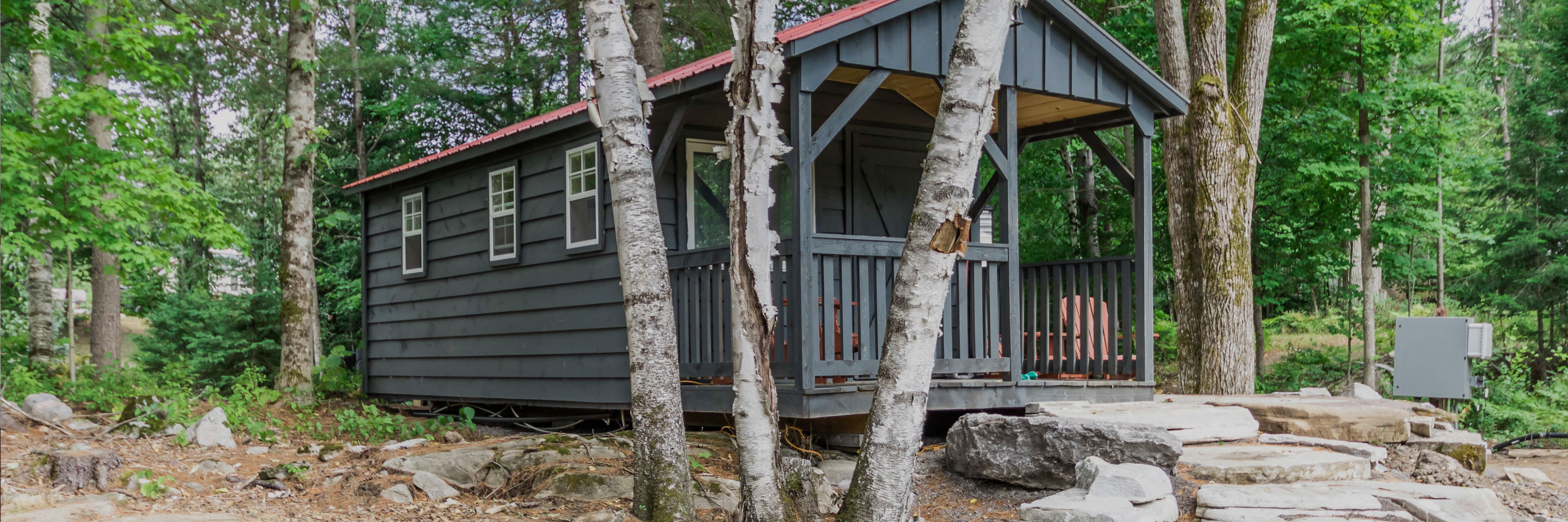 robins nest, tiny home, cottage rental, amenities, snowbird summer haven resort, white lake, Ontario, Canada